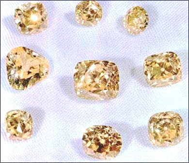 Loose Iranian Yellow Diamonds