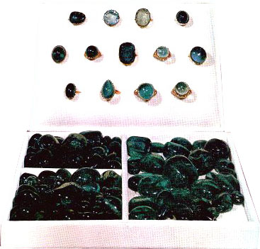 Some of the loose Emeralds among the Iranian Crown Jewels