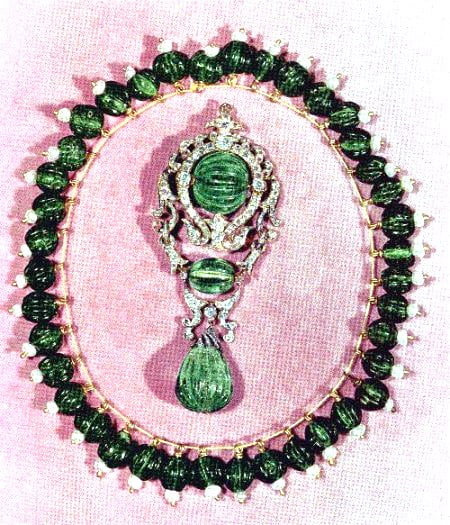 Emerald Beaded Necklace in the Iranian Crown Jewels