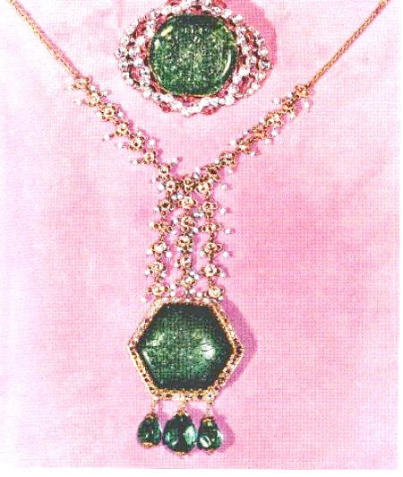 The Emerald Brooch and Necklace in the Iranian Crown Jewels