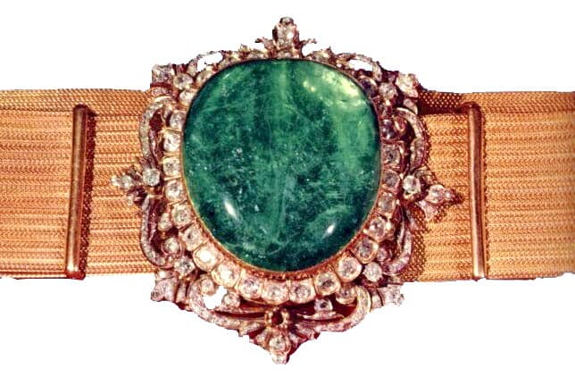 The Emerald Belt in the Iranian Crown Jewels