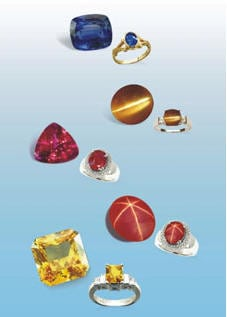 Some High Quality Gemstones Cut,Polished and Set by the Traditional Skilled Sinhalese Craftsmen of Sri Lanka