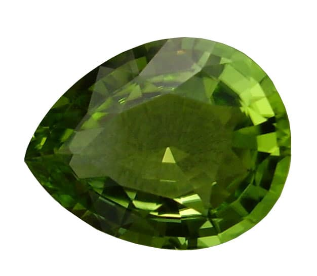 Pear Cut Peridot Gemstone