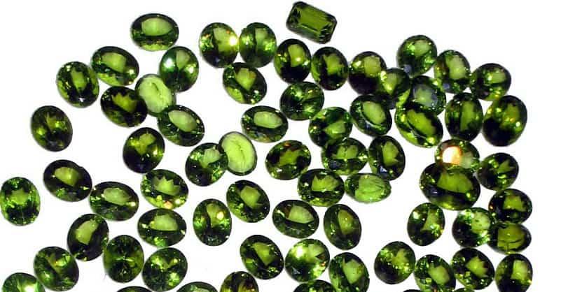 Cut Peridot Gemstones from Pakistan