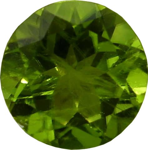 Round Brilliant Cut Peridot Gemstone from Afghanistan