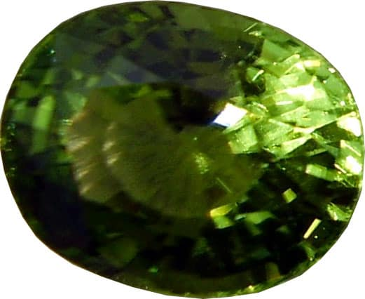 Cushion Cut Peridot,close Up View