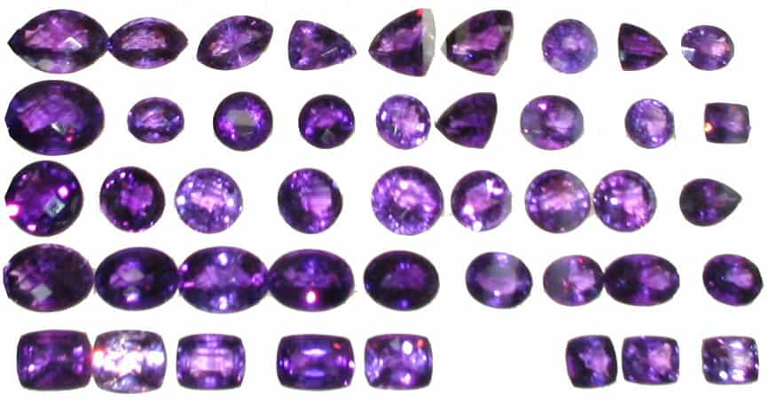 Different Types of Cuts of Amethyst