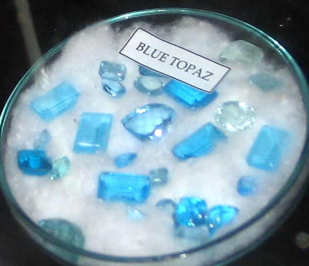 Blue Topaz with different types of cut such as Emerald,Oval,Pear and Cushion cuts