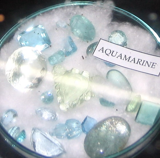 Aquamarine Gemstone cut in different shapes and sizes