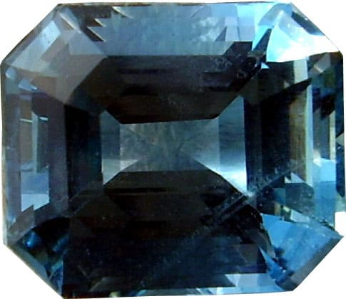 A Square Emerald Cut Aquamarine Gemstone
