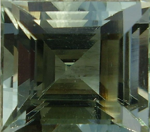 A Square Cut Nigerian Aquamarine Gemstone