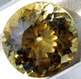 Brilliant Round Faceted Sinhalite Gemstone