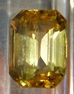 An Emerald Cut Yellow Sapphire Gemstone from Ceylon