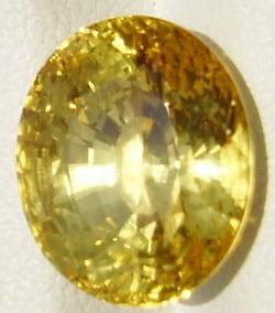 Oval Cut Yellow Sapphire Gemstone from Sri Lanka