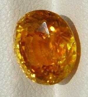 Golden Yellow Oval Cut sapphire gemstone from Sri Lanka