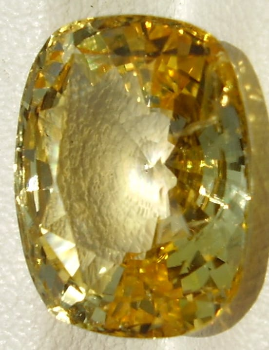 Large Yellow Sapphire Cushion Cut Gemstone