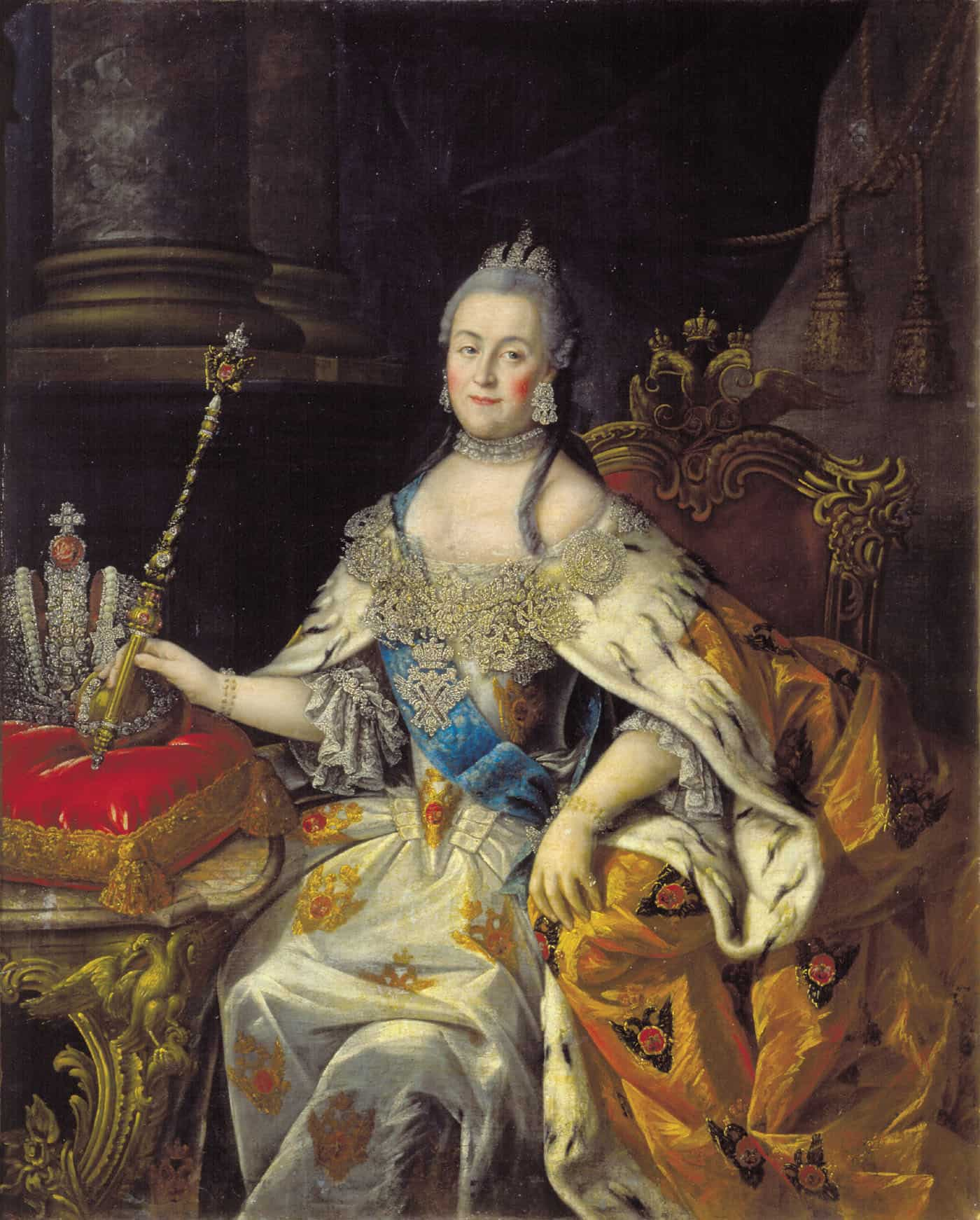 Catherine The Great, Potrait of Antropov Alexey Petrovich