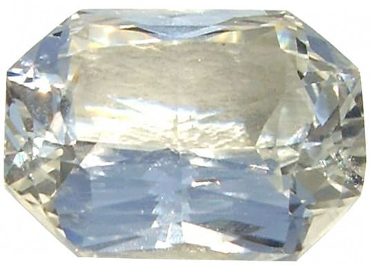 Ceylon White Sapphire Gemstone,Modified Emerald Cut