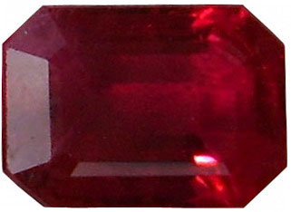 Emerald Cut Natural Mogok Ruby