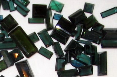 Faceted Green Tourmalines of African Origin