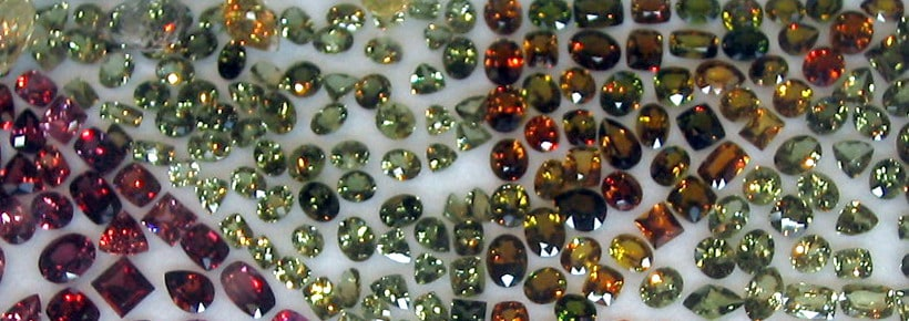 A Large Collection of Faceted Zircons of different colours