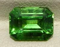Emerald Cut Tanzanian Tsavorite Garnet