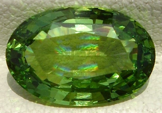 Oval Cut Tsavorite Garnet from Kenya
