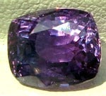 Cushion Cut Violet Sapphire from Sri Lanka