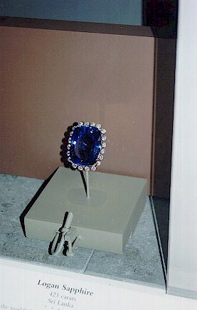 Logan Blue Sapphire Mounted at the Smithsonian