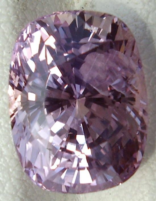 A Large Cushion Cut Ceylon Pink Sapphire
