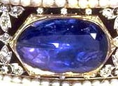 Stuart Sapphire Mounted on the Imperial State Crown