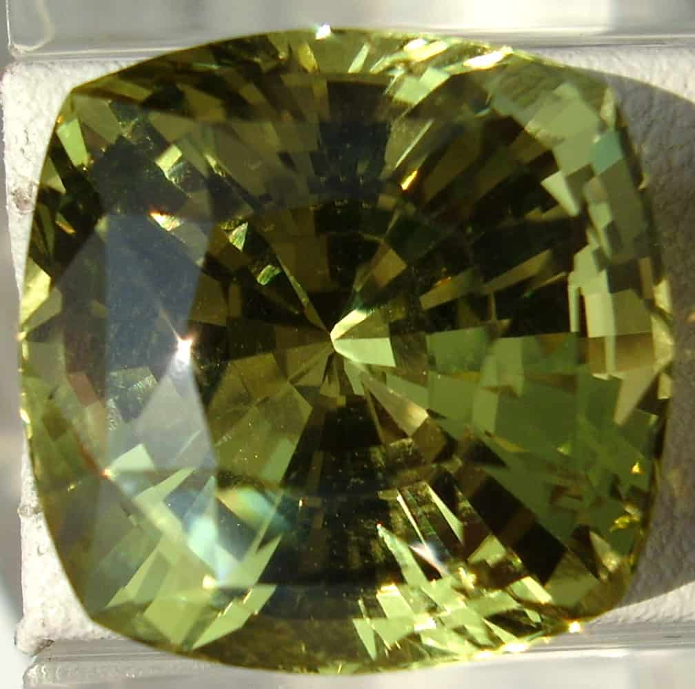 Modified Square Faceted Chrysoberyl from Ceylon