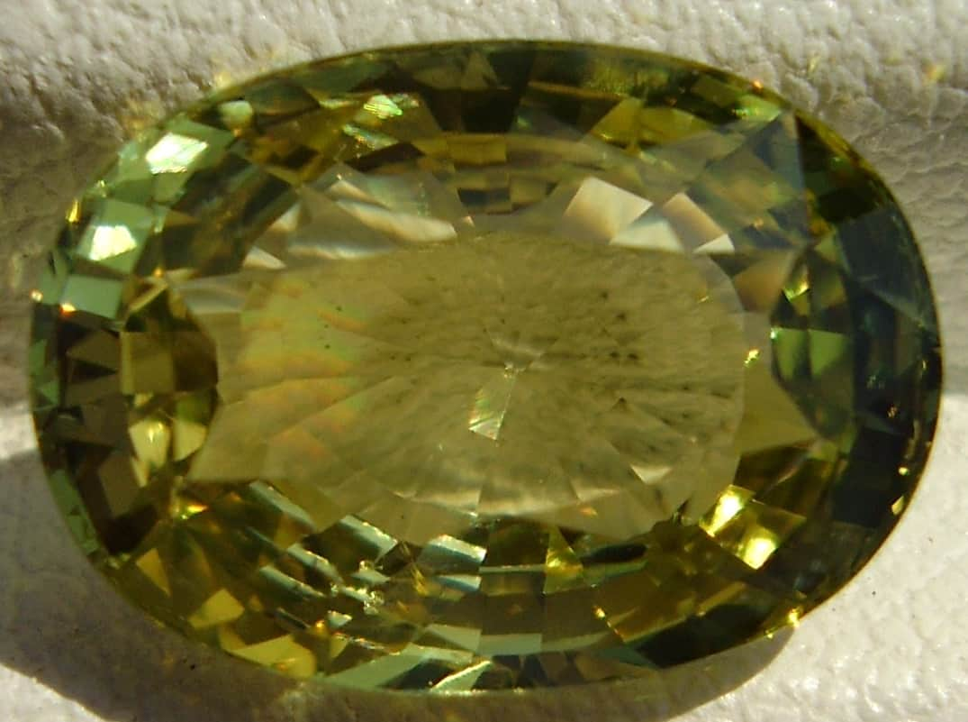 Oval Cut Yellow Chrysoberyl