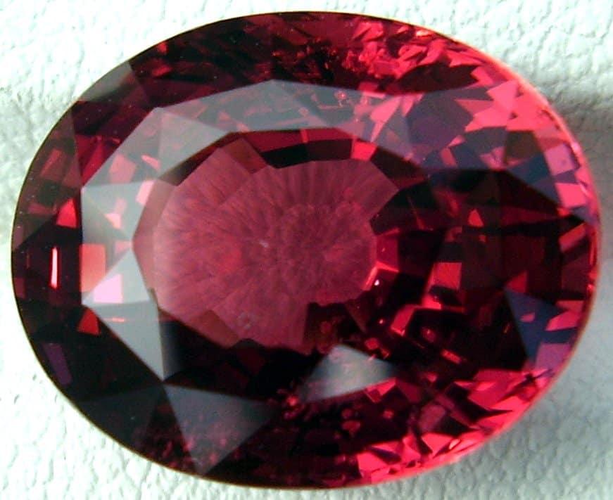 Oval Cut Ceylon Red Spinel Gemstone