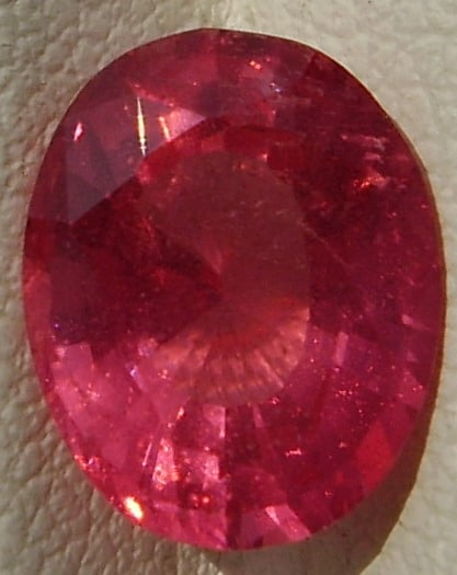 Oval Cut Red Spinel