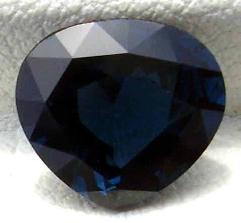 Faceted Bluish Black Spinel Of Ceylon Origin
