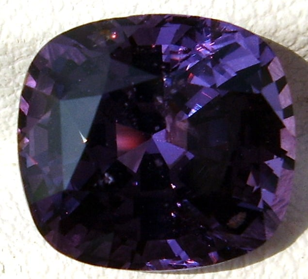 Cushion Cut Violet Spinel