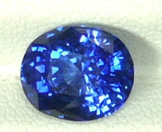 Oval Cut Ceylon Blue Sapphire Gemstone