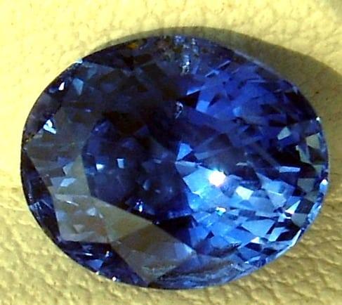 Image of Oval Cut Ceylon Blue Sapphire