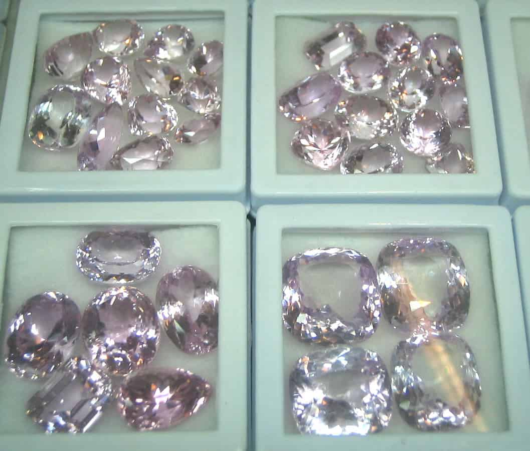 Kunzite Gemstones from South Africa