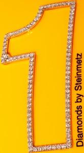 Close Up View Of The Diamonds in Lewis Hamilton's Steinmetz Diamond Studded Helmet for Grand Prix-2009