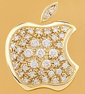 close-up-of-the-apple-logo-iphone-diamond-studded