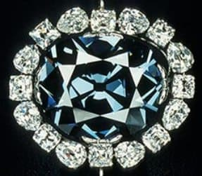 The Hope Diamond in the old setting- Copyright Smithsonian Institution