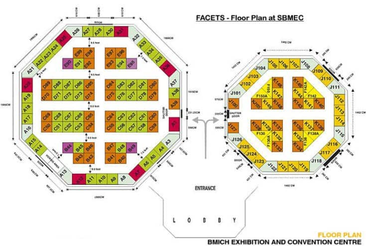 Facets Sri Lanka Floor Plan at the BMICH Exhibition and Convention Center