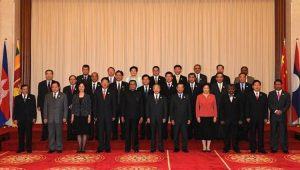 State Councilor Dai Bingguo with the foreign guests who attended the opening ceremony