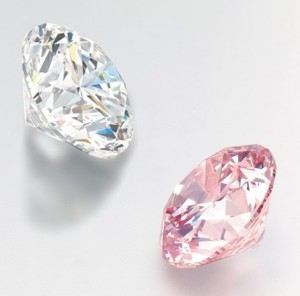 martian-pink-diamond-photographed-with-the-11.85-carat-d-color-diamond-also-to-be-sold-at-the-same-auction