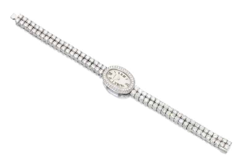 Lot 203 - Lady's Diamond Cocktail Watch, Mini Baignoire - by Cartier