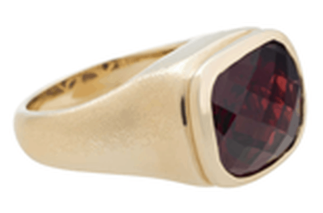 Garnet and Diamond Bonbon Ring - by Olivia Wildenstein