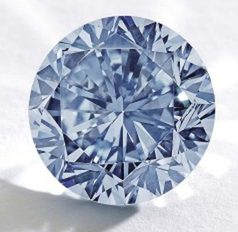 Premier Blue Diamond - World's largest, round brilliant-cut, fancy vivid blue diamond