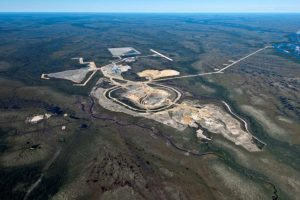 Aerial View of Victor Diamond Mine